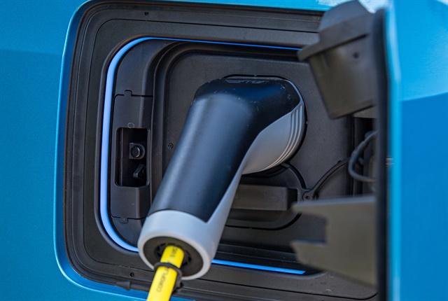 Photo of i3 charging port courtesy of BMW.