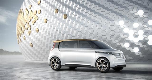 Photo of BUDD-e microbus concept courtesy of VW.
