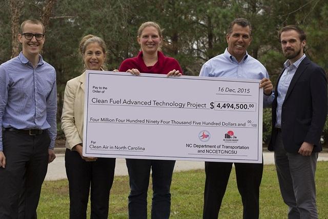 NC Clean Energy Technology Center Transportation Team (l to r): Matt Abele, Anne Tazewell, Heather Brutz, Rick Sapienza, and Mike Terreri