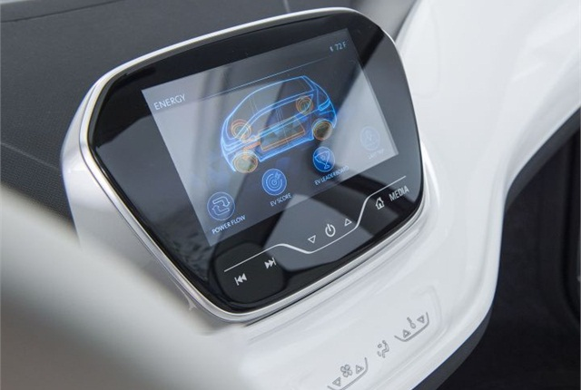 Photo of infotainment screen in Chevrolet Bolt EV concept courtesy of GM.