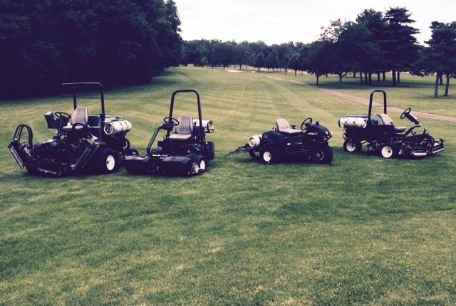The City of Columbus received four propane-powered mowers for its airport golf course. Photo courtesy of City of Columbus.