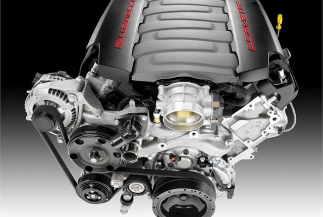 Photo of Corvette's 6.2L V-8 courtesy of GM.