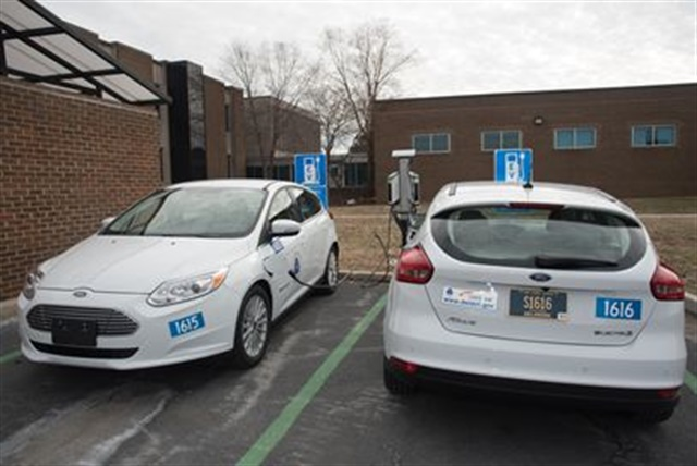 Photo of the fleet's new electric vehicles via State of Delaware