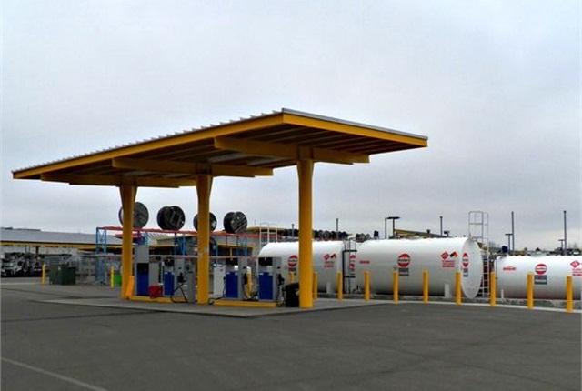 EWEB's renewable diesel fueling station. Photo courtesy of Oregon Department of Energy