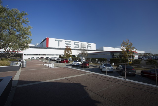 Photo of Tesla factory in Fremont, Calif., courtesy of Tesla Motors.