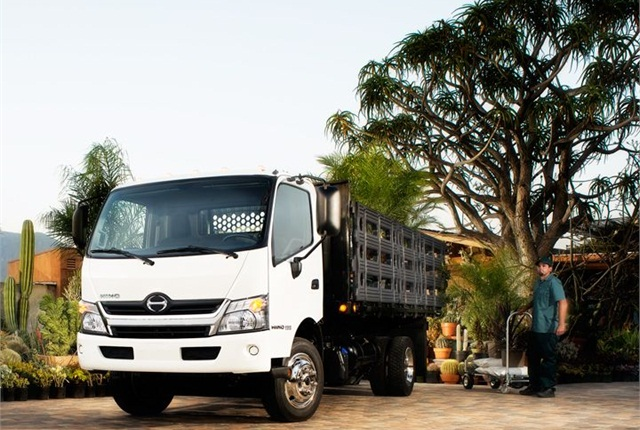 Photo of Hino 195 class 5 cabover with stake body courtesy of Hino.