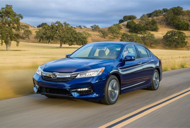 Photo of 2017-MY Accord Hybrid courtesy of Honda.