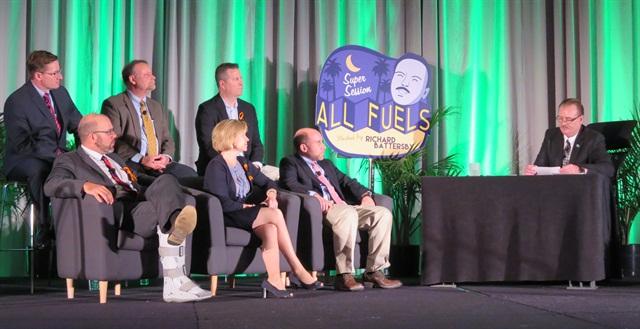 Fuel Ambassadors field questions from Richard Battersby. Photo: Deborah Lockridge