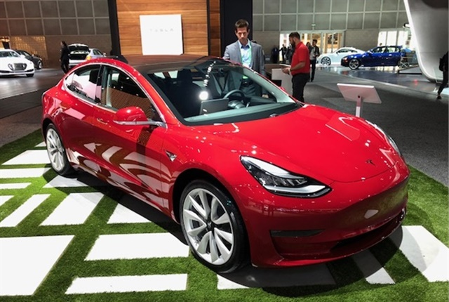Photo of the Tesla Model 3 by Paul Clinton.