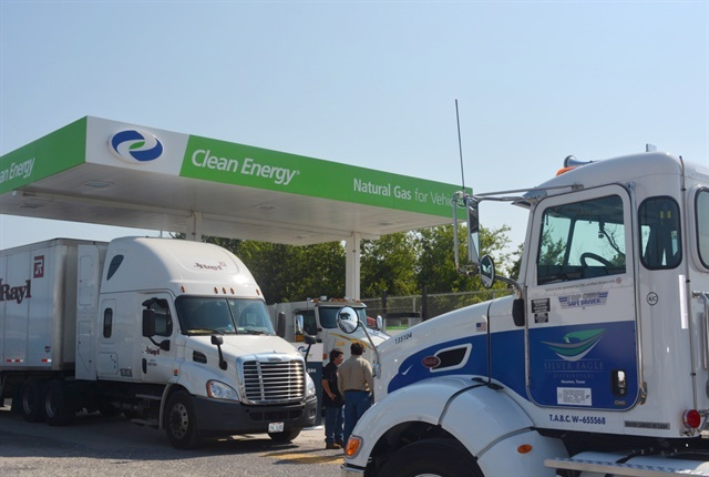 Photo of a Clean Energy CNG Station courtesy of  Clean Energy Fuels Corp.