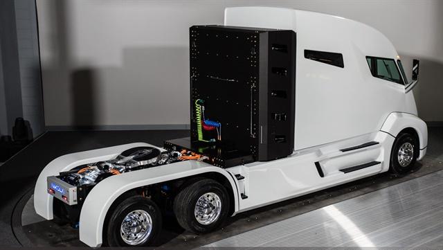 Perry will help bring the Nikola fuel-cell truck to market. Photo: Nikola Motor