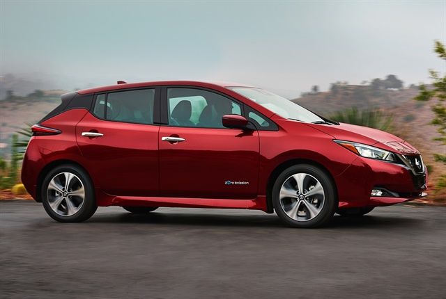 Photo of the 2018 Leaf courtesy of Nissan.