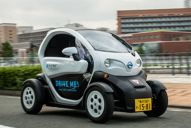 Photo of the Nissan New Mobility Concept courtesy of Nissan.