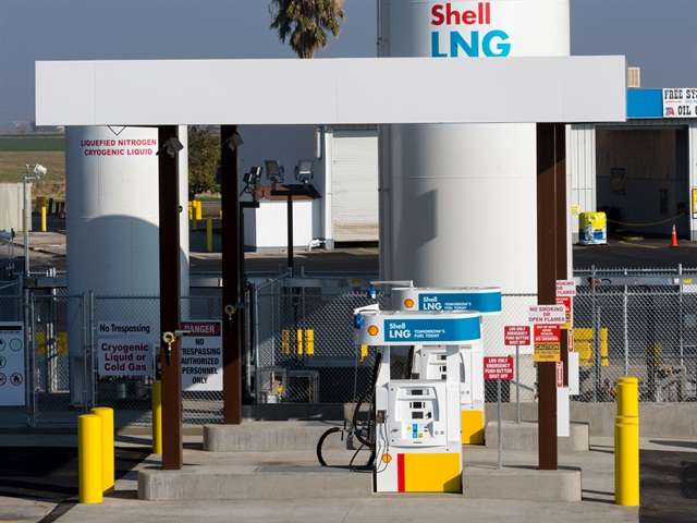 The Shell LNG lanes in Santa Nella, California. Photo courtesy of Shell