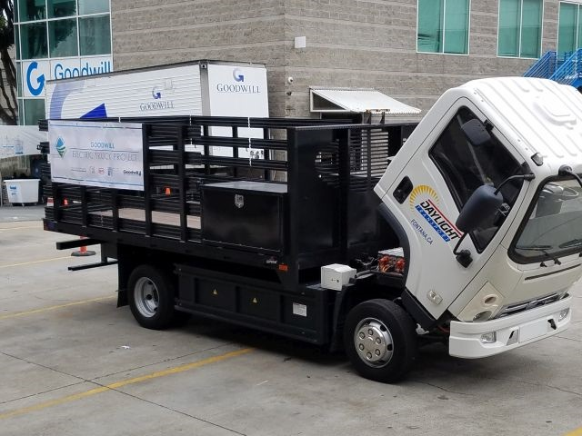 BYD joined the California Air Resources Board, Bay Area Air Quality Management District, and SF Goodwill on the launch of a new project that will bring 11 clean, zero-emission battery electric trucks. Photo courtesy of SF Goodwill