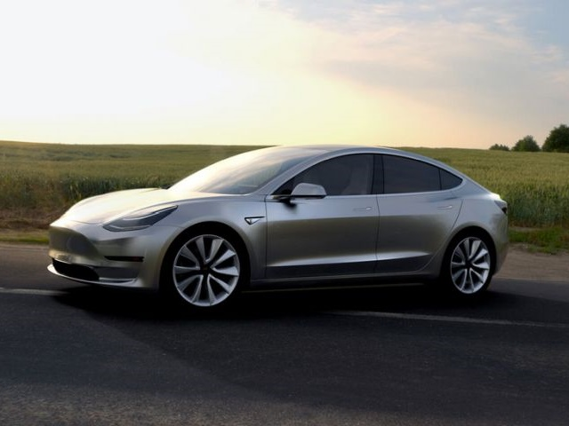 Photo of Model 3 courtesy of Tesla.