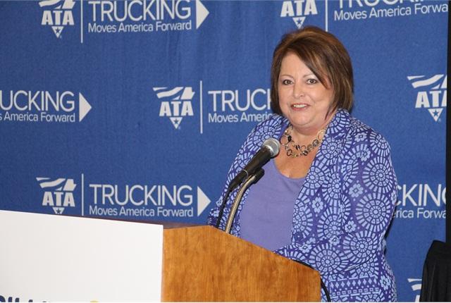 Trillium President Mary Boettcher is bullish on the future of CNG in trucking. Photo by Evan Lockridge