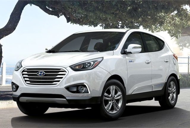 Photo of 2015 Tuscon Fuel Cell courtesy of Hyundai.