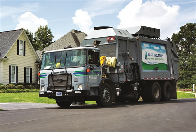 Photo of a refuse truck courtesy of Waste Industries.