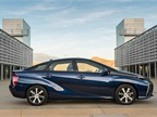 Photo of Toyota Mirai hydrogen fuel cell electric vehicle courtesy of Toyota.<br />