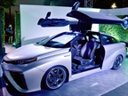 Pictured above is a Back to the Future inspired version of the Toyota Mirai. Photo courtesy of Toyota.