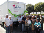 The Community Action Partnership of Orange County (CAPOC) poses with new CNG-fueled, 16-foot box truck.<br />Photo Credit: Clean Transportation Funding from the Mobile Source Air Pollution Review