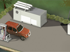 CNG In A Box is built with General Electric's high-speed reciprocating compressor technology, dispenser technology, a credit card reader, and a remote utility box, according to GE's web