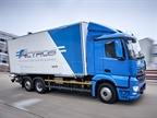 Daimler has begun fleet-testing its Mercedes-Benz eActros fully electric heavy-duty truck as it nears full production, planned to begin in 2021. Photo: Daimler AG