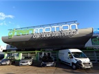 Green Motion's new outside branding at one of its UK locations. Photo courtesy of Green Motion.
