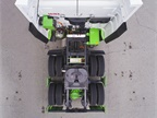 Green-painted Hyliion 6X4HE components include the motorized rear