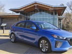 Photo of a Hyundai Ioniq Hybrid at Blue Ridge Parkway courtesy of Hyundai