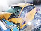 Volvo's crash tested C30 Electric in the Volvo stand shows how it can be done. Even though the car has been subjected to a very demanding 40 mph (64 km/h) off-set frontal test, the key electric compon