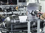 Photo of fuel cell testing courtesy of Mercedes-Benz USA.