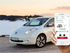 Rent Centric's self-service technology enables Green Commuter carsharing users to rent all-electric Nissan Leafs via a mobile app. Photo courtesy of Rent Centric