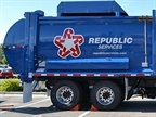 Photo of Republic Servies natrual gas truck courtesy of Clean Energy.