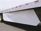 Trailer aerodynamic device include side skirts, pictured here. Photo: Utility Trailer Mfg.
