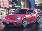 Photo of pink 2017 Beetle courtesy of Volkswagen.
