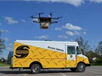 Horsefly drone teams with E-Gen van, but roof support equipment can be installed on any walk-in van, Workhorse says. Photo: Workhorse Group