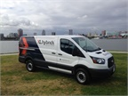 Ford Transit equipped with an XL3 Hybrid system (Photo courtsey of XL Hybrids)