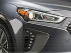 The Ioniq Hybrid features Bi-Xenon HID headlights surrounded by LED