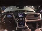 The truck s cabin offers several tech features, such as two display