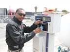 DISH technicians access the onsite fueling station by inserting their