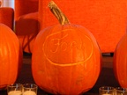 The Ford pumpkin took home first place at the pumpkin carving contest.
