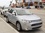 Mitsubishi showed its Outlander PHEV that should arrive in the U.S.