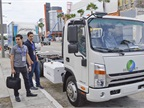 Greenkraft showed its Class 4-5 cabover that can be set up as a