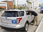 Mobileye showed its aftermarket collision avoidance system on a Ford