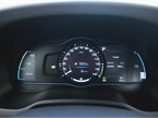 A 7-inch cluster display provides charge level, fuel level, and other