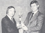 [1974] Ed Bobit presents the Annual Bobit Award to Heydon Hubler of