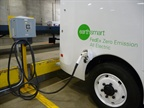 one of FedEx Express  Navistar eStar vehicles charging.