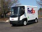 One of FedEx Express  Navistar eStar delivery vans.